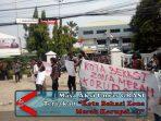 """Masa Aksi Unras GRASI Teriakan """"Kota Bekasi Zona Merah Korupsi…!!"""" (1)"""