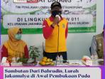 Sambutan Dari Bahrudin, Lurah Jakamulya di Awal Pembukaan Pada Pelaksanaan Penilaian Lomba Kampung Hidroponik.