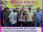 Noerhadi, Ketua RW 011 (tengah) sempat menyampaikan pendapat mewakili warga, Selasa (08_09_2020).