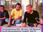 Noerhadi Ketua RW. 011 (kiri), Edi Djunaedi Lurah Jakasampurna (tengah), dan M. Bunyamin Camat Bekasi Barat (kanan), saat makan bersama.