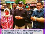 Pengarahan dari M. Bunyamin (tengah) Camat Bekasi Barat pada saat pembukaan gerbang Perumahan Jaka Permai, Jl. Cendana Raya.