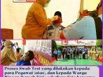 Proses Swab Test yang dilakukan kepada para Pegawai (atas), dan kepada Warga Binaan (bawah_kiri), sekaligus foto bersama dengan tim pelaksana Swab Test di Lapas Bekasi.