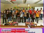 Kegiatan foto bersama usai pelaksanaan Musrenbang tingkat Kelurahan Jakasampurna, Rabu (20_01_2021) Siang.